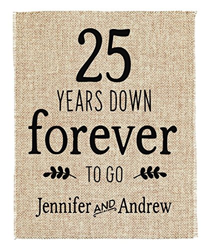 25th Anniversary Gift | 25th Wedding Anniversary Gift | Gift for 5th Anniversary | 5 Years Down Forever to Go | 25 Years of Marriage 25 Year Anniversary Invitations