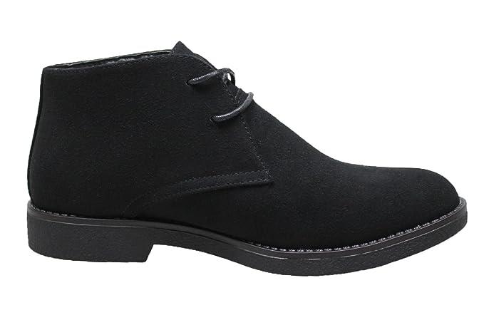 AK collezioni Scarpe polacchine uomo scamosciate nero casual man's shoes ecopelle