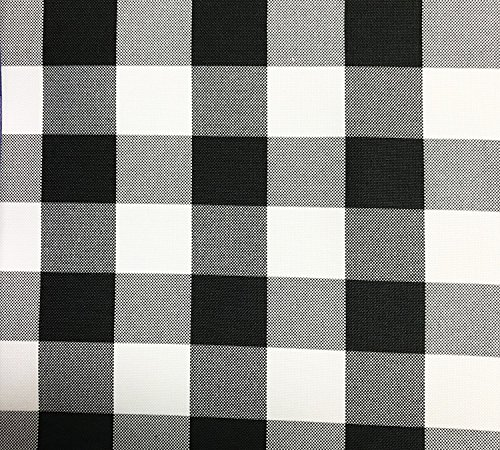 Check Round Tablecloths (GFCC Round Check Polyester Tablecloth,Black and White, 90-Inch)