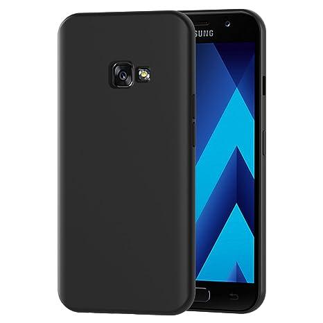 iVoler Funda Carcasa Gel Negro Compatible con Samsung Galaxy A3 2017, Ultra Fina 0,33mm, Silicona TPU de Alta Resistencia y Flexibilidad