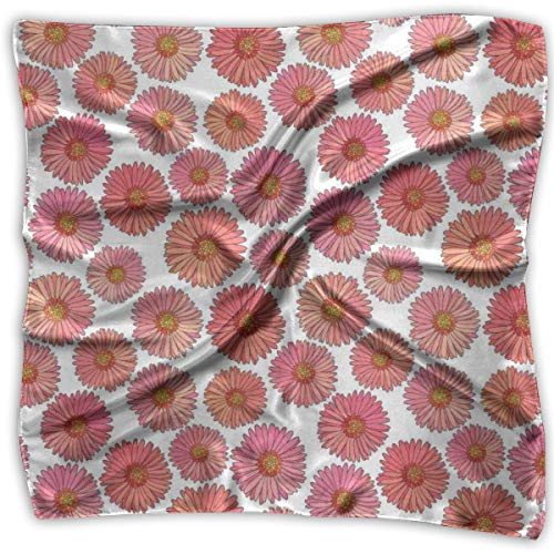 - Bandana Head and Neck Tie Neckerchief,Pink Blooms Flower Field Essence Fragrance Mother Nature Tropical Flourish,Headband