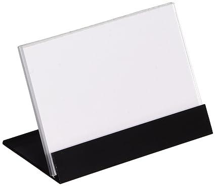 Displays2go nombre placa soporte de pantalla, tarjetero, mesa ...