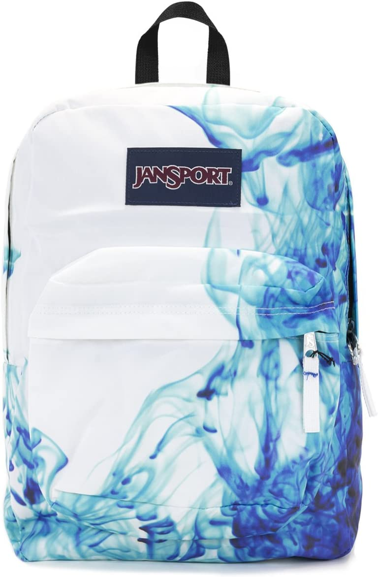 Jansport Superbreak Backpack multi blue drip dye
