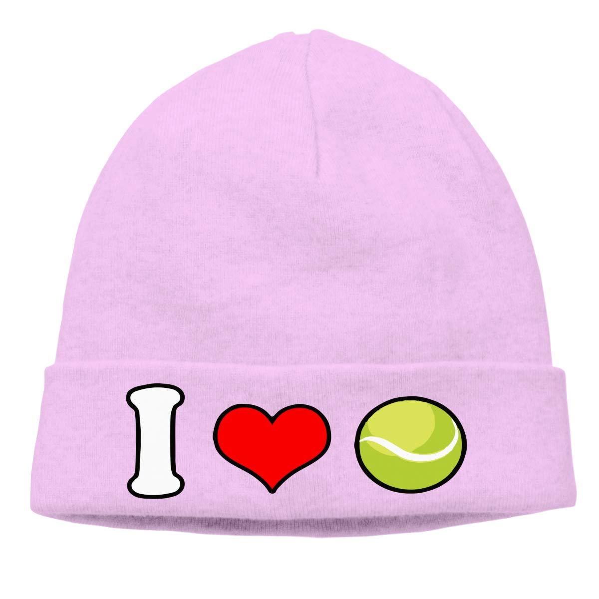 Unisex I Love Tennis Soft Knit Caps
