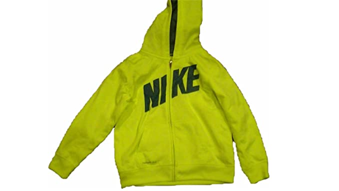 5a266d533be8 Amazon.com  Nike Toddler   Little Boys Yellow Volt Therma-Fit Hoodie ...