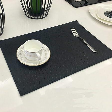 SHACOS Set de Table en Cuir PU avec Dessous de Verres Correspondant Lot de 4 Sets de Table Lavable imperm/éables,pour Table de Salle /à Manger