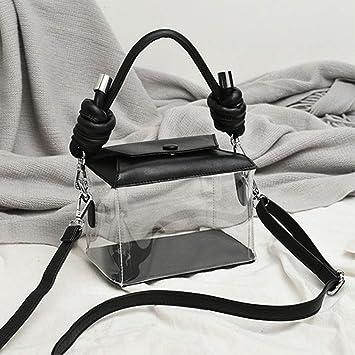 Frauen Handtaschen Umhaengetasche Transparente PVC Schultertasche Durchsichtig