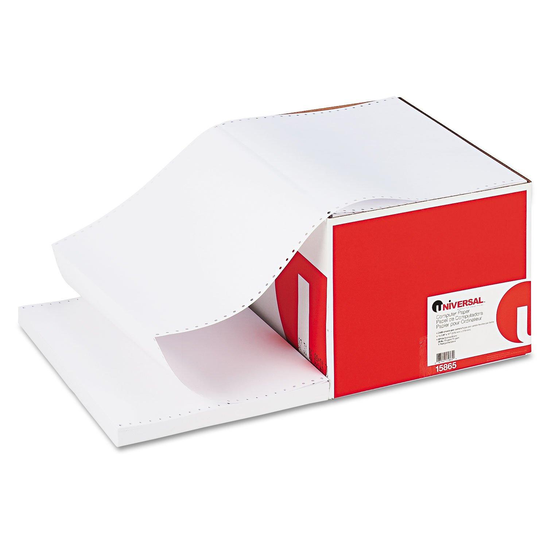 Universal 15865 Computer Paper 20lb 14-7/8 x 11 White 2400 Sheets 5685987 UNV15865