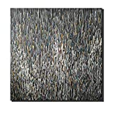 Desihum - Hand Painted Abstract Artwork Palette Knife Oil Painting Black Wall Art On Canvas 3D Textured Picture Decoration for Home