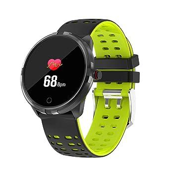 Hombres Reloj de Fitness, Reloj Inteligente con Medición de la Presión Arterial Impermeable a Largo