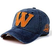 Cappellini con Visiera da baseball Hip-Hop Unisex, DoraMe Berretto mimetico da uomo e da donna estivi Le lettere W fanno il vecchio cappello