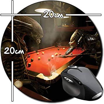 Alien Vs Predator Jugando Billar Playing Pool AVP Alfombrilla Redonda Round Mousepad PC: Amazon.es: Electrónica