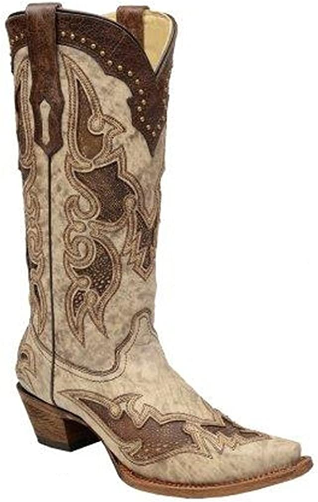 Corral Boots A2938 Cowboy Boots Brown//Bone