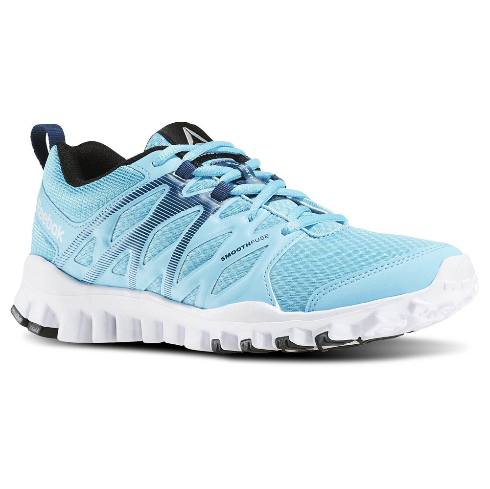 Reebok Women's Realflex Train 4.0 Cross-Trainer Shoe B01JM9YS4I 5 B(M) US|Blue/White/Black