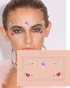 Miley Face Jewels ✮ Mercy London Face Gems Jewels All In One Festival Headpiece Stick On