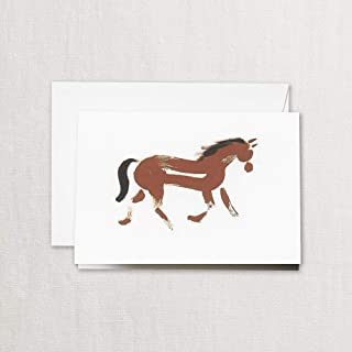 product image for Crane & Co. Brushstrokes Horse Note- Pack of 10 Cards