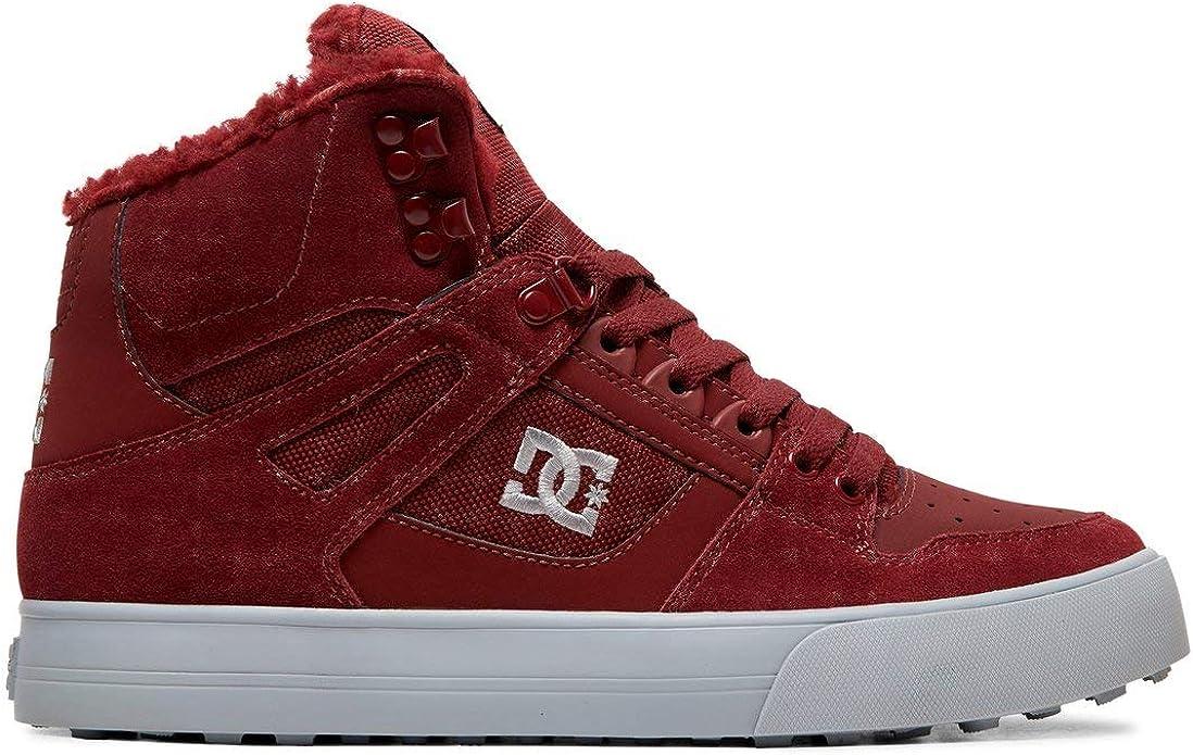 DC Shoes Pure High WC Sneakers High Tops Herren Größe 38 bis 52 Weinrot (Burgunder)