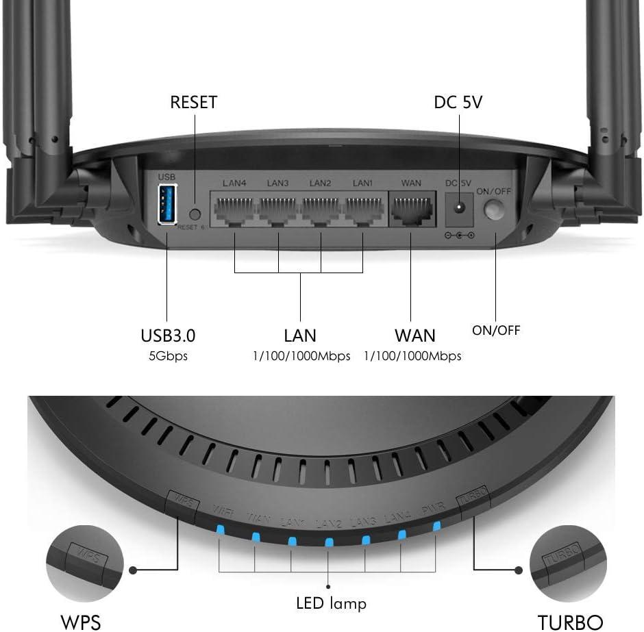 gaixample.org 1 USB3.0 Port WPS MU-MIMO WAVLINK AC2100 Dual-Band ...