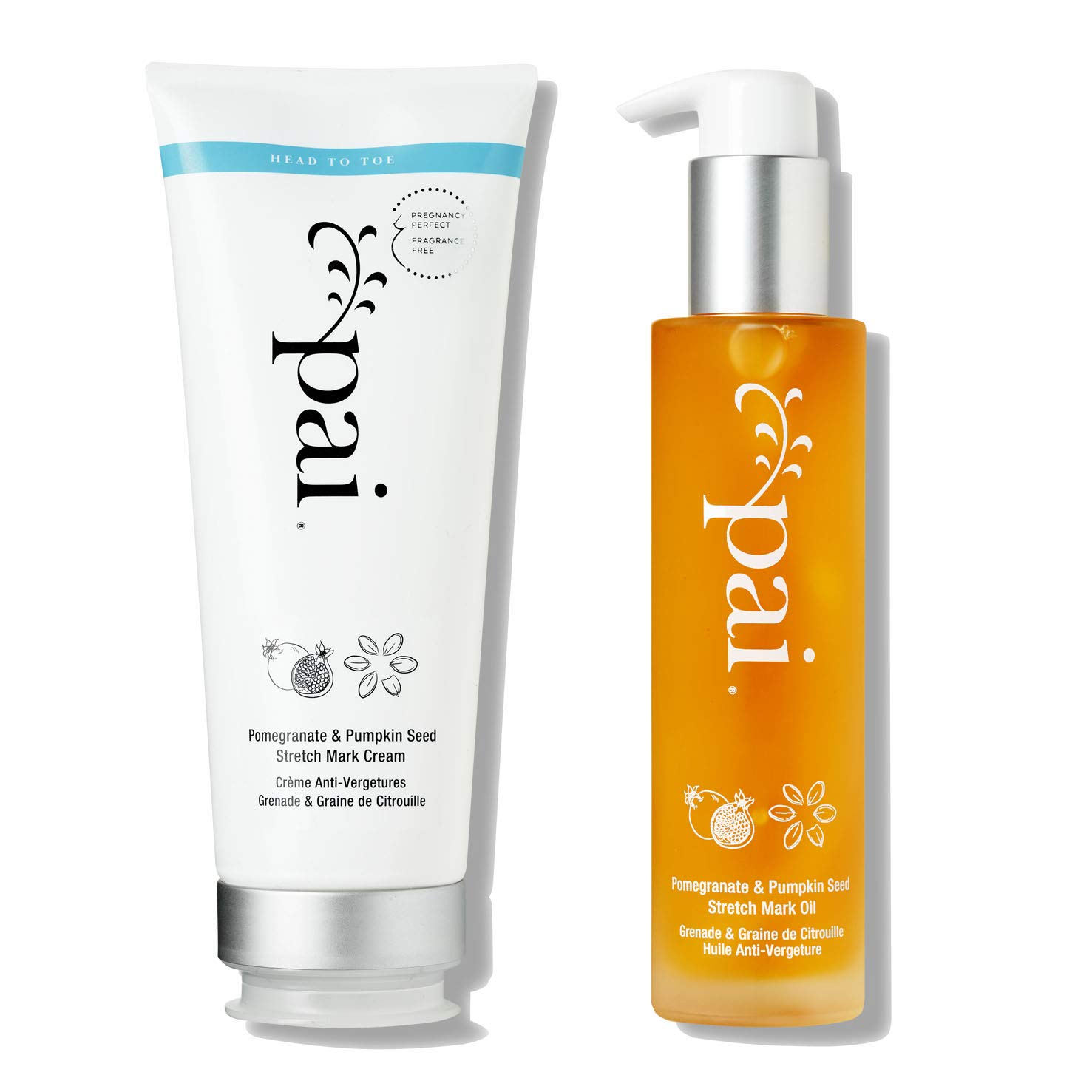 Pai Skincare Petit Pai Stretch Mark System - Pomegranate & Pumpkin Seed Hydrating Cream and Nourishing Oil by PAI SKINCARE