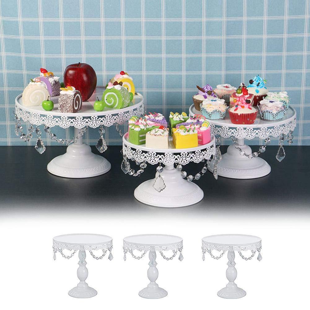 Dadahuam Soporte Redondo para Pastel de Metal Pedestal de postres para Cupcake para Bodas Ceremonia de graduaci/ón de cumplea/ños