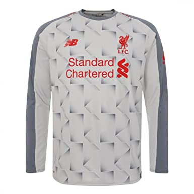 New Balance Liverpool 2018 19 Mens Long Sleeve Third Football Jersey Shirt  Grey  Amazon.co.uk  Sports   Outdoors 3ca2a7ce0