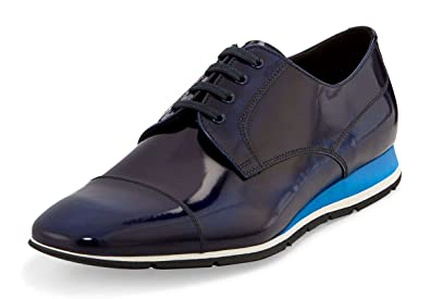 759e77699d4 Prada Men s Spazzolato Soft Cap-Toe Cobalto Oxford