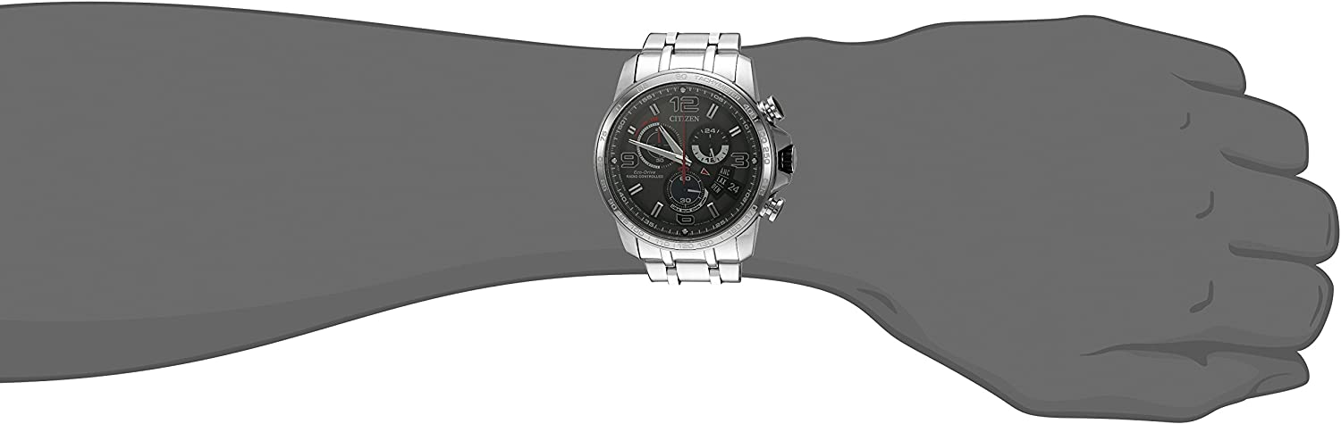 Citizen Eco-Drive Men s BY0100-51H Chrono-Time A-T Analog Display Silver Watch