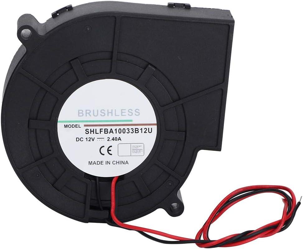 SunshineFace Centrífugo 2.4A 12V BDoble Bola Soplador Turbo, Ventilador de Refrigeración, Alto Volumen de Aire y Horno de Alta Velocidad para Picnic Camping Equipo de Calefacción Barbacoa
