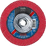 PFERD 67405 Polifan PFR Curve Radial Type Flap Disc, Ceramic Oxide, 4-1/2'' Diameter, 5/8-11 Thread, 13300 RPM, 60 Grit