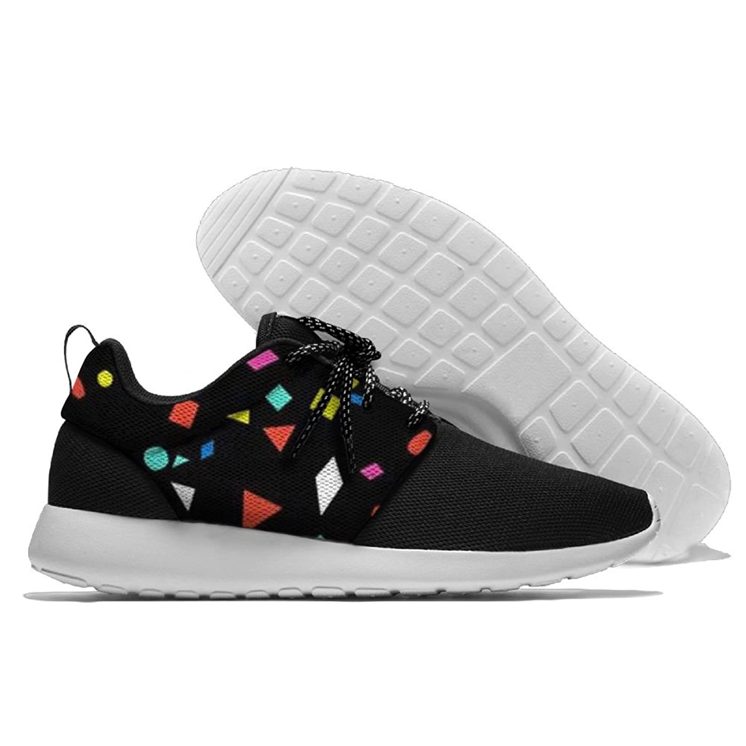 Men's Running Geometric Figure Shoes Fashion Breathable Sneakers Mesh Soft Sole Casual Athletic Lightweight