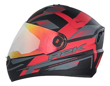 8fa5f6bf Steelbird R2k Night Vision Full Face Helmet (Matt Black and Red, L ...