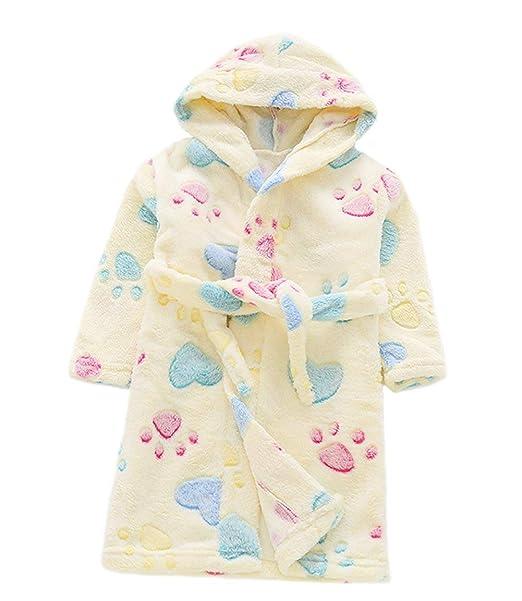 JZLPIN Niños Toddler Encapuchado Franela Túnica para niños Bata de baño Pijama Ropa de Dormir 1-6 Años: Amazon.es: Ropa y accesorios