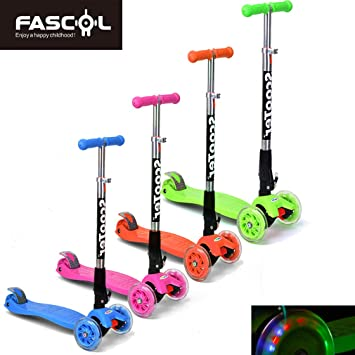 FASCOL® Twist & Roll Patinete plegable para niños con 3 ...