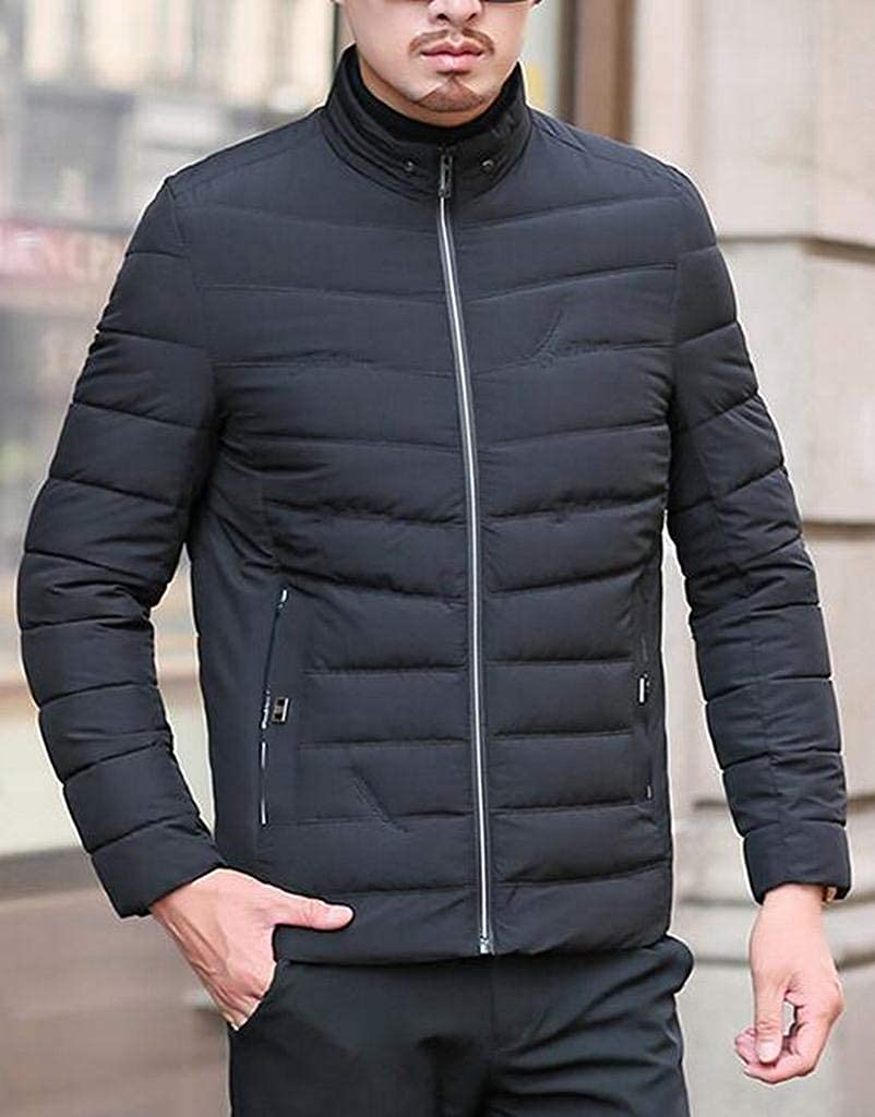 ARTFFEL Mens Stand Collar Casual Warm Winter Down Quilted Jacket Coat Outwear