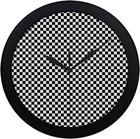 Silent Sweep Square Wall Clock Moontick Minimalist Marker Dial Case Black White