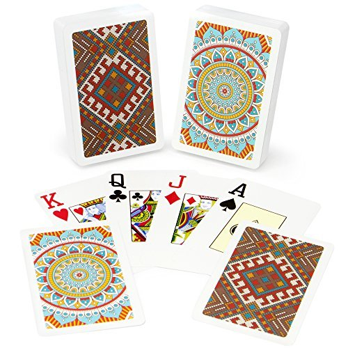 Copag Neo Culture 100% Plastic Playing Cards, Bridge Size, Jumbo Index