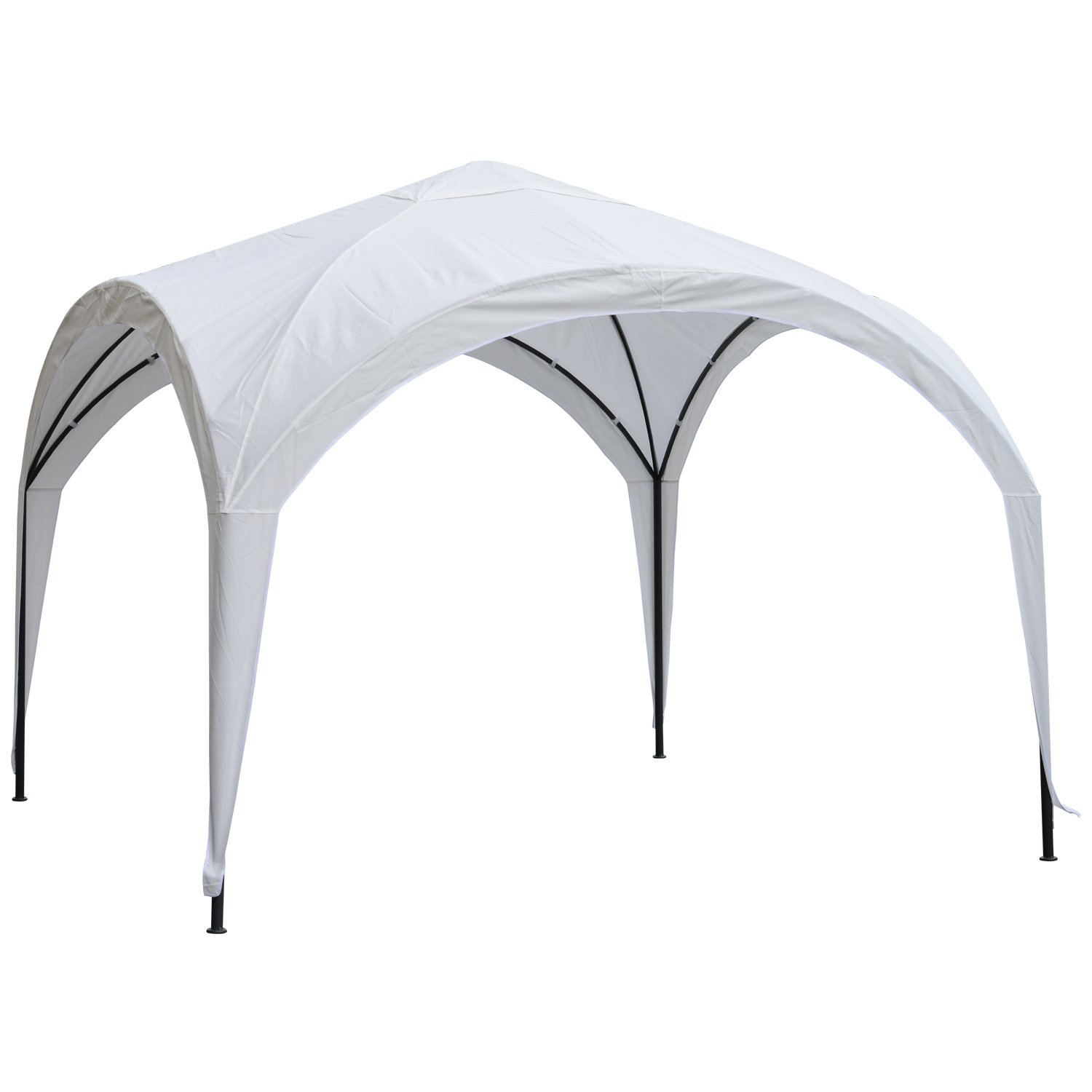 Outsunny 10' x 10' Outdoor Portable Dome Canopy Tent Sunshade Cover Durable Patio - White