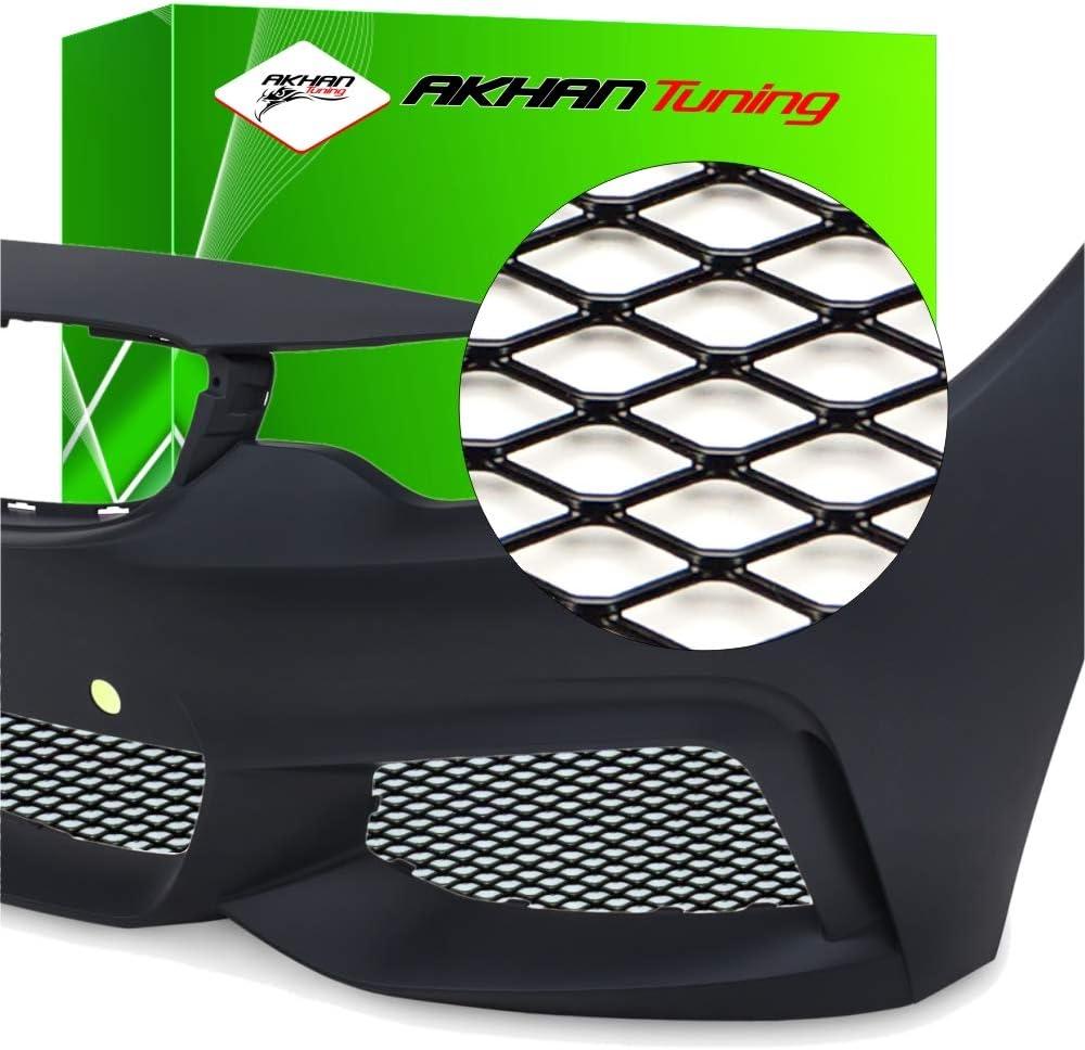 G94 - NEGRO Alu Mesh Race malla Raza parrilla de malla Rejilla de aluminio para coche para el parachoques, spoiler, rejilla de ventilación
