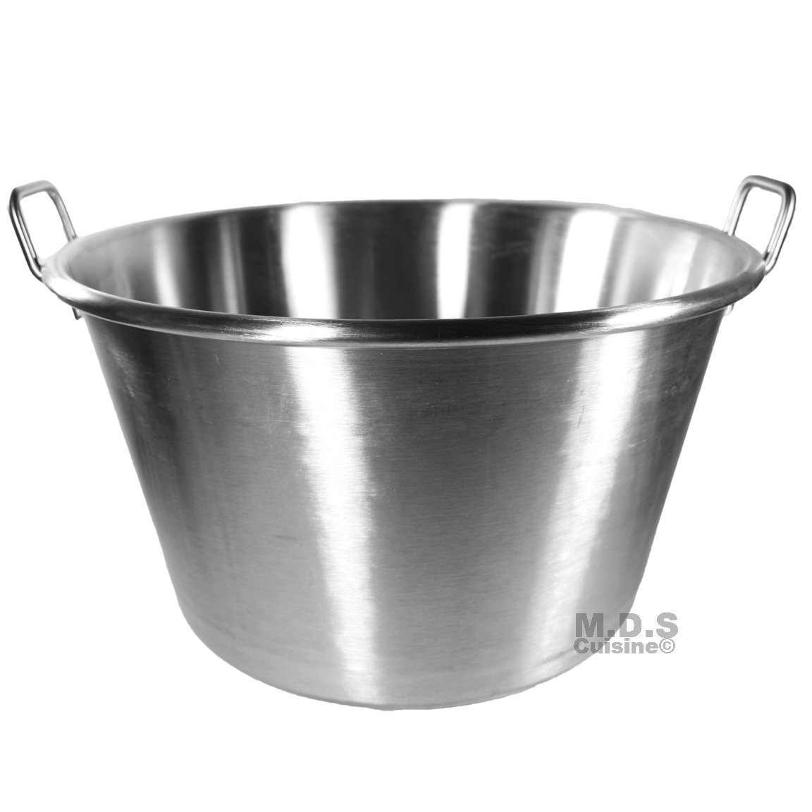 Large Cazo Stainless Steel 21'' Caso para Carnitas Gas Heavy Duty Wok Acero Inoxidable by M.D.S Cuisine Cookwares (Image #2)