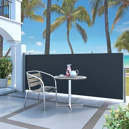 Resistente alla Polvere 120 x 300 cm Grigia Tidyard Tenda da Sole Laterale Retrattile,Tenda da Sole Parasole Retrattile//Avvolgibile Manuale,Impermeabile