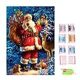 Gosear Navidad Serie Bricolaje Diamante Rhinestone Pintura Bordado Punto de Cruz Imagen para Navidad Casa Decor DIY (Estilo A)