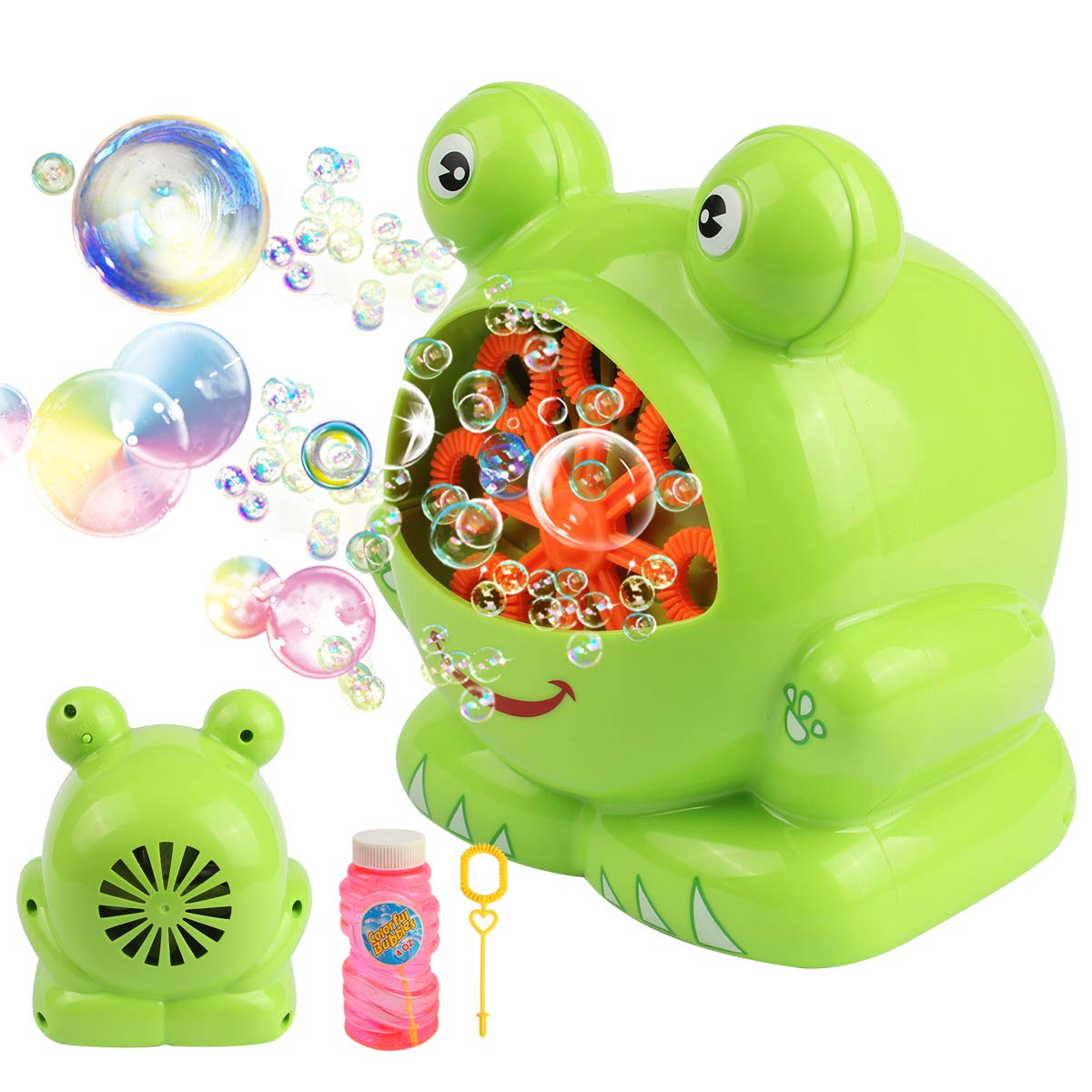 Automatic Frog Bubble Blower Machine Make Bubbles for Kids Birthday Party, Wedding, Indoor and Outdoor Games by Kidcheer (Image #1)