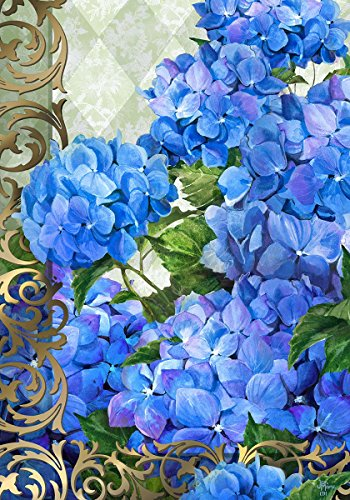 Blue Hydrangeas Double Garden Decorative