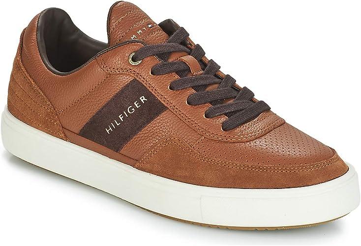Tommy Hilfiger Lightweight Material Sneaker Herren Cognac