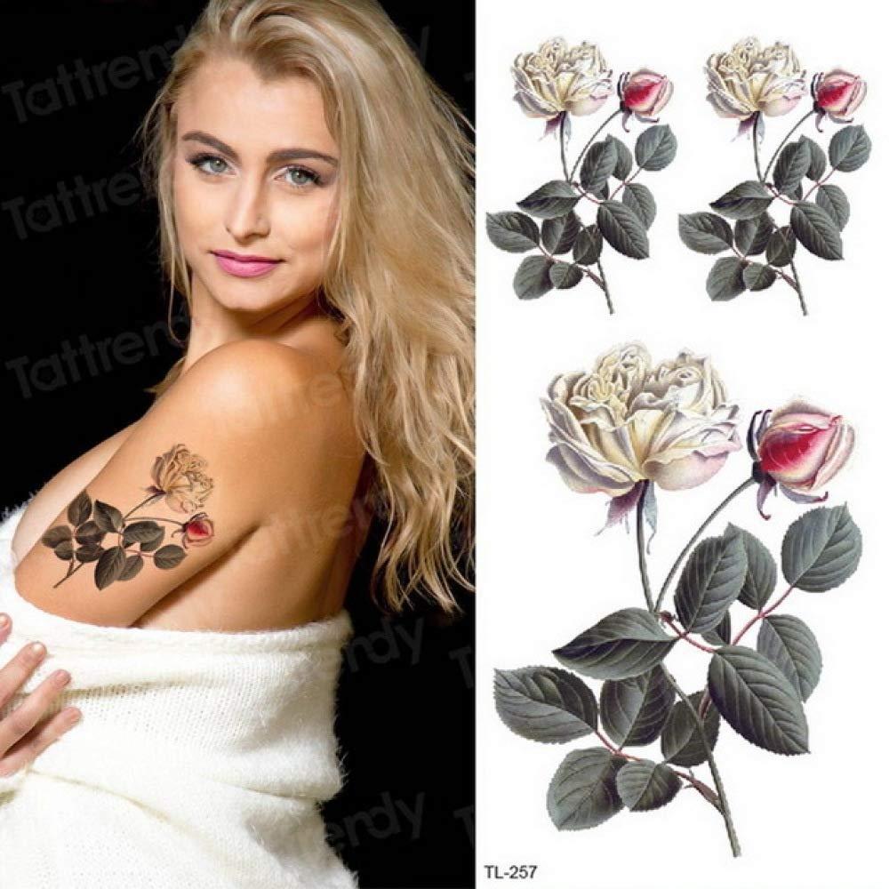 Acuarela Tatuaje Pegatinas Mujeres Arte corporal Brazo Reed Rama ...