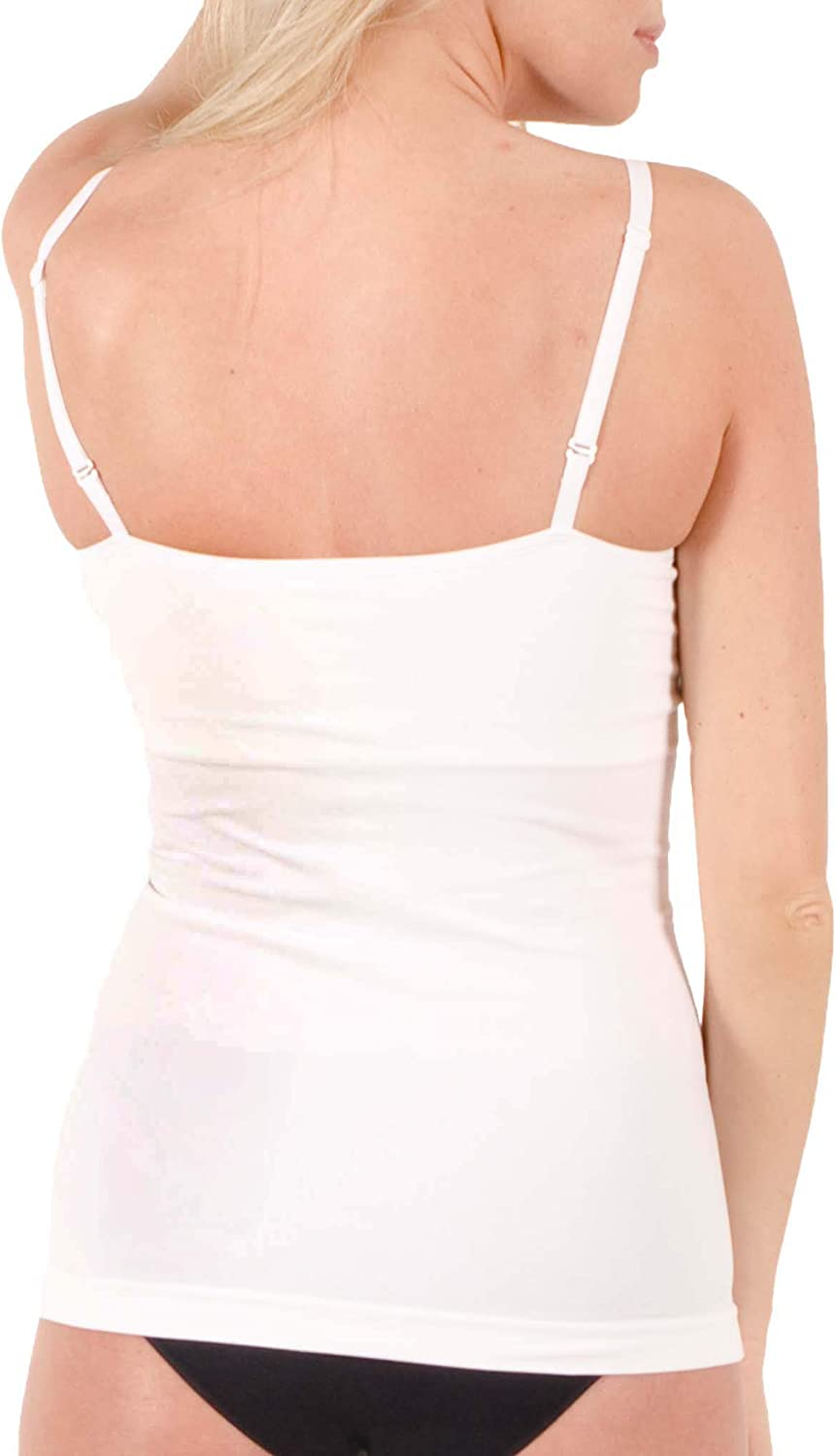 miel Womens Coco Camisole Formfitting Tank Top Bra Perfect Everyday Breathable Comfortable Cami