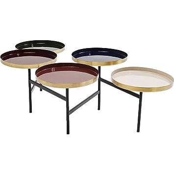 Table Basse Kare Design.Kare Design Table Basse Curve Multicolore Laiton Amazon Fr