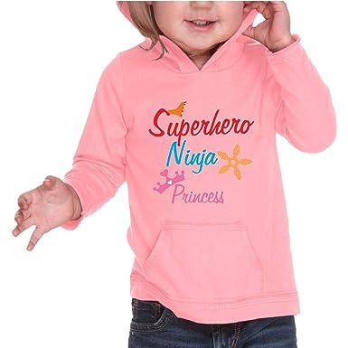 Amazon.com: Superhero Ninja Princess Hooded Boys-Girls ...