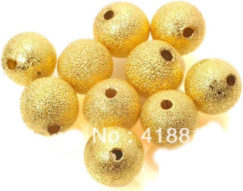 50pcs 500pcs #202140RGF 8mm Rose Gold Filled Stardust Beads 100pcs