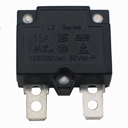 Electrical Equipment & Supplies Other Industrial Circuit Breakers 125/250VAC 15A Switch Push Reset Button Circuit Breaker Overload Protector KA